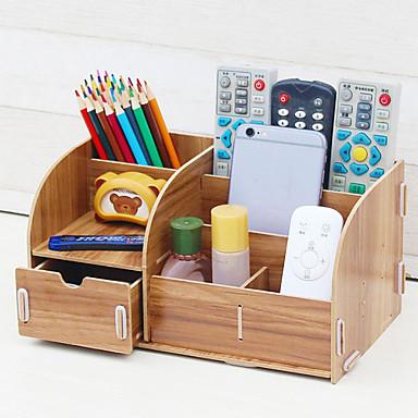 De madeira Criativo Casa Organização, 1pç Organizadores de Secretária
