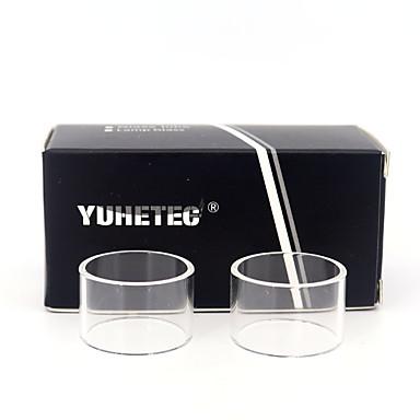 yuhetec erstatning glassrør for aspire pockex lomme aio 2 ml 2 stk
