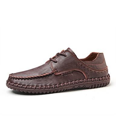 Ανδρικά Δερμάτινα παπούτσια Συνθετικά Άνοιξη / Φθινόπωρο Μοκασίνια & Ευκολόφορετα Αναπνέει Μαύρο / Ανοικτό Καφέ / Σκούρο καφέ