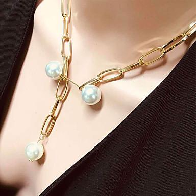 Γυναικεία Κρεμαστό Αλουμίνιο Χρυσό 46 cm Κολιέ Κοσμήματα 1pc Για Καθημερινά Σχολείο Δρόμος Αργίες Φεστιβάλ