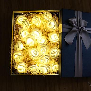6m Φώτα σε Κορδόνι 40 LEDs Θερμό Λευκό / Ροζ Πάρτι / Διακοσμητικό / Γάμος Μπαταρίες AA Powered 1set