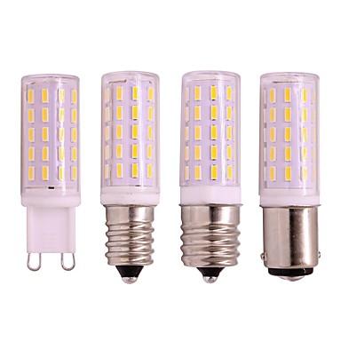 1pc 4 W LED Λάμπες Καλαμπόκι 330 lm E14 G9 E17 54 LED χάντρες SMD 3020 Θερμό Λευκό Άσπρο 110-240 V