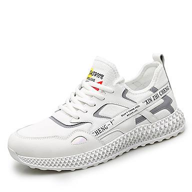 Ανδρικά Παπούτσια άνεσης PU Καλοκαίρι Αθλητικό Αθλητικά Παπούτσια Αναπνέει Μαύρο / Λευκό / Μπεζ