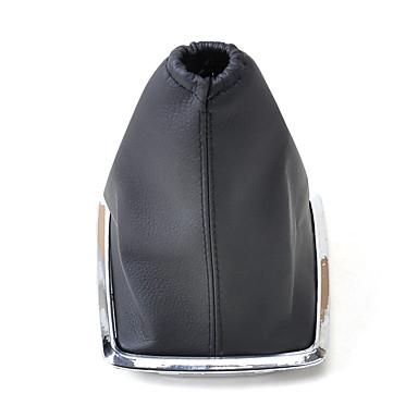 billige Interiørtilbehør til bilen-svart pu skinn gir boot støvel deksel for 2005-2012 ford fokus