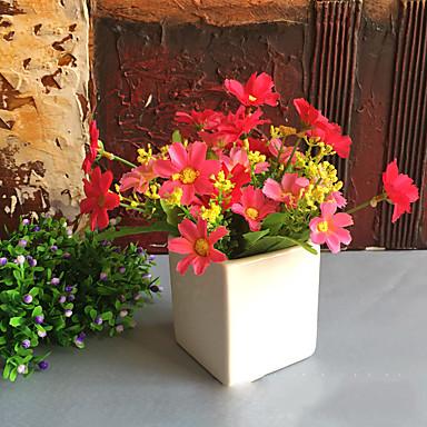 τεχνητά λουλούδια 1 υποκατάστημα κλασσικά σύγχρονα σύγχρονα τριαντάφυλλα τραπεζάκι λουλ
