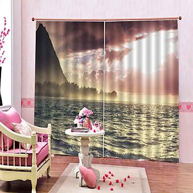 Sonho cenário home decor blackout 100% poliéster cortina da janela quarto sala de estar espessamento de alta qualidade cortina de fundo