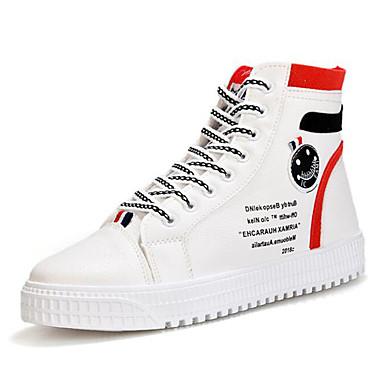 Ανδρικά Suede παπούτσια Σουέτ / PU Άνοιξη / Φθινόπωρο Αθλητικά Παπούτσια Περπάτημα Συνδυασμός Χρωμάτων Μαύρο και Άσπρο / Ροζ και Άσπρο / Άσπρο και Πράσινο / Fashion Boots