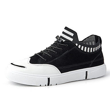 Ανδρικά Παπούτσια άνεσης Φο Δέρμα Ανοιξη καλοκαίρι / Φθινόπωρο & Χειμώνας Κλασσικό / Καθημερινό Αθλητικά Παπούτσια Αναπνέει Μαύρο / Γκρίζο / Χακί