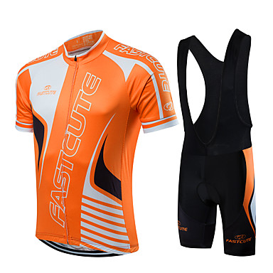 FUALRNY® Ανδρικά Κοντομάνικο Αθλητική φανέλα και σορτς ποδηλασίας Πορτοκαλί+Άσπρο Μπλε / Μαύρο Μαύρο / Πορτοκαλί Ποδήλατο Ρούχα σύνολα Αναπνέει Ύγρανση Γρήγορο Στέγνωμα Αθλητισμός Γεωμετρία