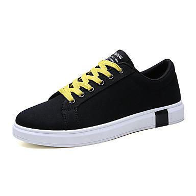 Ανδρικά Παπούτσια άνεσης Πανί Καλοκαίρι Καθημερινό Αθλητικά Παπούτσια Μη ολίσθηση Συνδυασμός Χρωμάτων Μαύρο / Άσπρο / Μαύρο / Κόκκινο / Μαύρο / Κίτρινο
