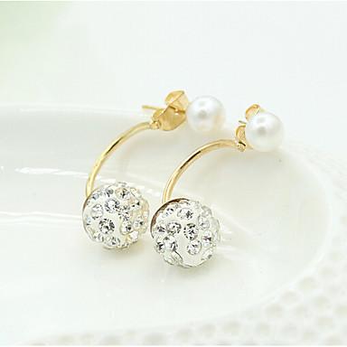 levne Dámské šperky-Dámské Visací náušnice Klasika Koule Sladký Módní Napodobenina perel Náušnice Šperky Zlatá Pro Denní Práce 1 Pair