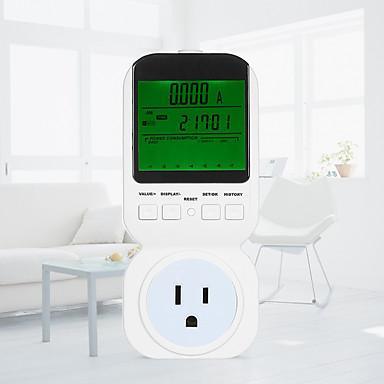 us digital lcd energimåler wattmeter wattage elektrisitet kwh effektmåler måle måle utgangseffekt analysator ts-8000