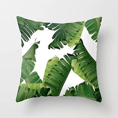 preiswerte Kissen Trends-tropische pflanzen kissenbezug polyester dekorative kissenbezüge grüne blätter dekokissen abdeckung platz 45 * 45 cm wohnkultur