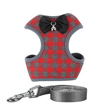 Hunder Katter Seler Coat Harness Hundeklær Gul Rød Blå Kostume Nett Nylon Pledd / Tern Avslappet / Sportslig S M L
