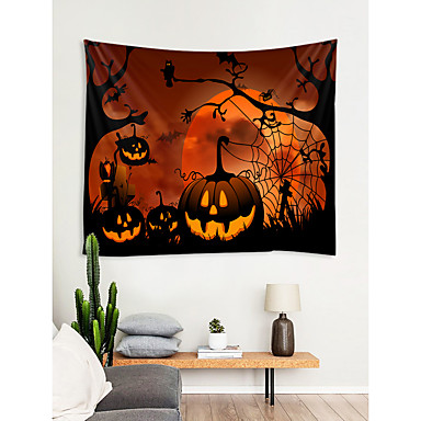 halloween veggdekorasjon 100% polyester moderne / nyttårs veggkunst, veggtepper dekorasjon