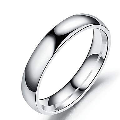 cheap Rings-Men's Women's Band Ring Ring Tail Ring 1pc Rose Gold Gold Silver Stainless Steel Titanium Steel Circular Basic Fashion Gift Daily Jewelry Cool