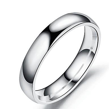 levne Pánské šperky-Pánské Dámské Band Ring Prsten Tail Ring 1ks Černá Stříbrná Růžové zlato Nerez Titanová ocel Kulatý Základní Módní Dar Denní Šperky Cool