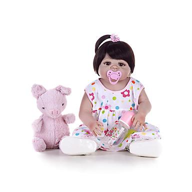 Κούκλες σαν αληθινές Μωρά Κορίτσια 22 inch Σιλικόνη πλήρους σώματος - Παιδικό / Εφηβικό Παιδικά Γιούνισεξ Παιχνίδια Δώρο