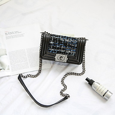 Γυναικεία Φερμουάρ PU Σταυρωτή τσάντα Συμπαγές Χρώμα Μαύρο / Θαλασσί / Χακί