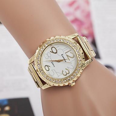 cheap Watches-Women's Dress Watch Quartz Stainless Steel Imitation Diamond Analog Classic - Gold Silver Pink