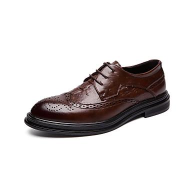 Ανδρικά Παπούτσια άνεσης PU Ανοιξη καλοκαίρι Καθημερινό Oxfords Μη ολίσθηση Μαύρο / Καφέ