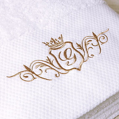 Overlegen kvalitet Vaskehåndklæ, Geometrisk Bomull / Linblandning Baderom 1 pcs