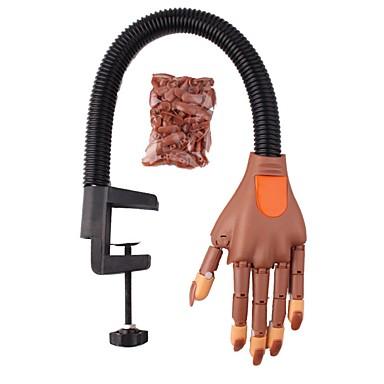 voordelige Nagelgereedschap & Apparatuur-nail art oefening prothetische hand buigbare activiteit model nep hand met beugel sturen joint hand nagellak sjablonen