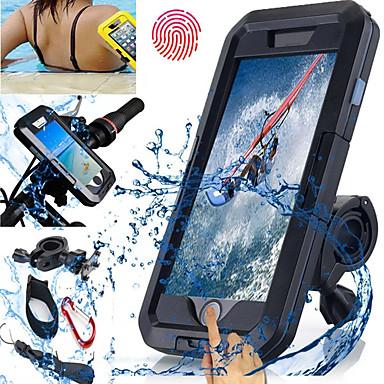 billige Sykkeltilbehør-Telefonstativ til sykkel Berøringsskjerm Vanntett Stor effekt til Svømming Dykking Motorsykkel ABS iPhone X iPhone 8 8 Plus iPhone 6 pluss Sykling Svart