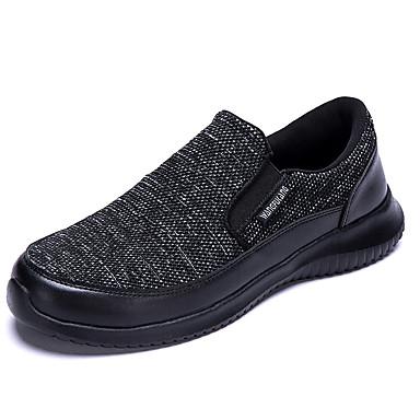 Ανδρικά Παπούτσια άνεσης Ελαστικό ύφασμα Φθινόπωρο / Ανοιξη καλοκαίρι Μοκασίνια & Ευκολόφορετα Μαύρο / Μπεζ / Σκούρο μπλε
