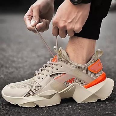 Homens Sapatos Confortáveis Tissage Volant Primavera / Outono Tênis Corrida Branco / Preto / Preto / Vermelho / Branco
