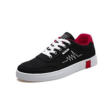 Homens Sapatos Confortáveis Lona Verão Casual Tênis Não escorregar Estampa Colorida Branco / Preto / Preto / Vermelho / Cinzento