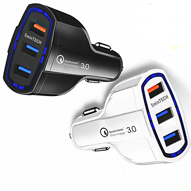 voordelige Automatisch Electronica-snelle snelle autolader (3 poorten) usb (16w / 5912v / 3.2a) voor Android-iPhone