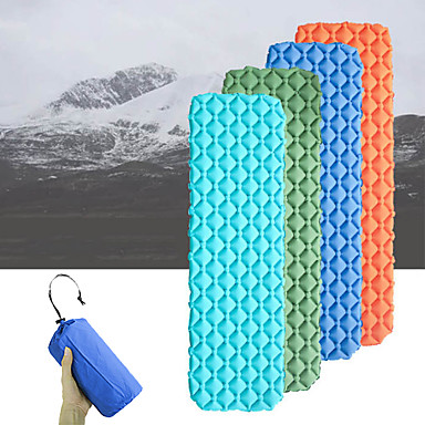 cheap Sleeping Bags & Camp Bedding-Inflatable Sleeping Pad Camping Pad Air Pad Outdoor Camping Portable Lightweight Moistureproof TPU Nylon 195*58 cm Camping / Hiking / Caving Traveling Outdoor for 1 person Autumn / Fall Spring Summer