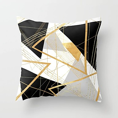preiswerte Kissen Trends-1 Stück Polyester Kissenbezug, Geometrisch Modern Dekokissen