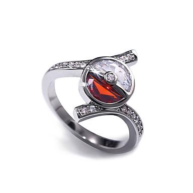 billige Motering-Dame Band Ring Ring Kubisk Zirkonium 1pc Hvit Kobber Geometrisk Form Stilfull Luksus Fest Gave Smykker Klassisk Alv Kul