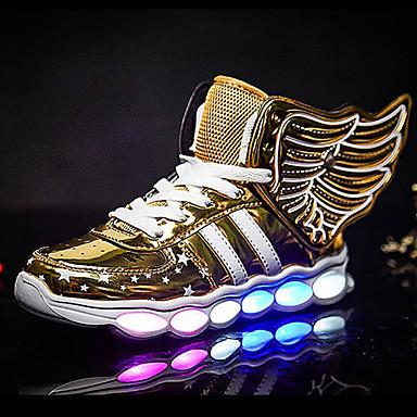 preiswerte Schuhe für Kinder-Jungen Komfort / Leuchtende LED-Schuhe Kunststoff Sportschuhe Kleinkind (9m-4ys) / Kleine Kinder (4-7 Jahre) Rennen Schwarz / Silber / Wein Frühling / Herbst