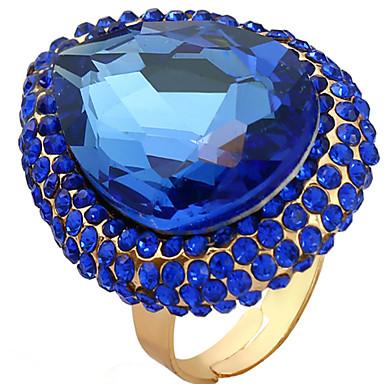 Γυναικεία Ρυθμιζόμενο δαχτυλίδι 1pc Σκούρο μπλε Πέτρα & κρύσταλλο Κράμα Οβάλ Πολυτέλεια Πάρτι Κλαμπ Κοσμήματα