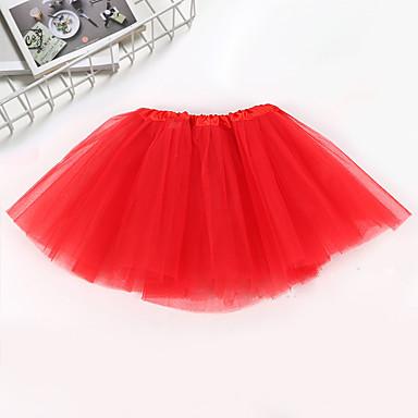 preiswerte Röcke für Mädchen-Yiwu pby_0af2 Dreischichtiger Ballettröckchen-Ballettrock für Kinder Weiß _ Einheitsgrösse