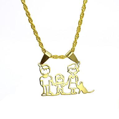 povoljno Modne ogrlice-Muškarci Žene Srebro Zlato Ogrlice s privjeskom Charm Necklace Klasičan Radost Vintage Osnovni Tikovina Zlato Pink 50 cm Ogrlice Jewelry 1pc Za Vjenčanje Obećanje