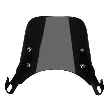 Pára-brisas pára-brisas preto para 5inch-7inch rodada faróis motocicleta universal