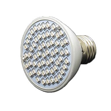 1pc 4 W 360-430 lm 60 LED perler Voksende lysarmatur Rød Blå 85-265 V Vegetabilsk drivhus