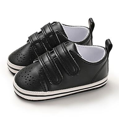 Αγορίστικα Πρώτα Βήματα PU Αθλητικά Παπούτσια Βρέφη (0-9m) / Νήπιο (9m-4ys) Μαύρο / Ανοικτό Καφέ / Λευκό Άνοιξη / Φθινόπωρο