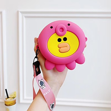 povoljno iPhone maske-djevojka ručni jedan ramena novčanik kovanica prijenosni slušalice torba skladištenje torba slatka crtani silikon s dugim kratkim remena telefon dva \ t