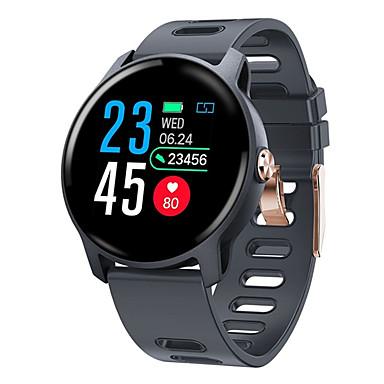 s08 smart klokke s08 ip68 fitness tracker hjertefrekvensvakt pedometer vanntett smartwatch for android ios telefon
