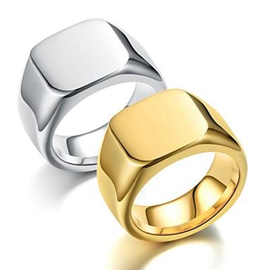 levne Dámské šperky-Pánské Band Ring Prsten Tail Ring 1ks Zlatá Stříbrná Nerez Titanová ocel Kulatý Vintage Základní Módní Dar Denní Šperky Cool