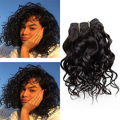 povoljno Ekstenzije od ljudske kose-1 paket Brazilska kosa Kovrčav Klasika Virgin kosa Ljudske kose plete 8 inch Isprepliće ljudske kose Proširenja ljudske kose / 10A
