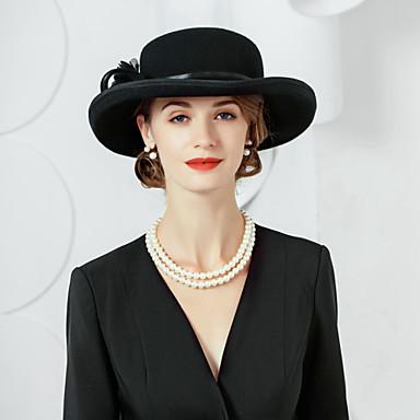 100% Lã Chapéus com Floral 1pç Casual / Roupa Diária Capacete