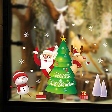 Window Film & αυτοκόλλητα Διακόσμηση Με Μοτίβο / Χριστούγεννα Γεωμετρικό / Χαρακτήρας PVC Αυτοκόλλητο παραθύρου