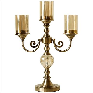 Σύγχρονη Σύγχρονη Σίδερο Κηροπήγια Κηροπήγιο 1pc, Κερί / Κερί