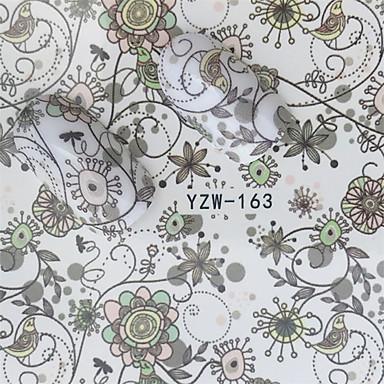 1 pcs Klistremerker Romantisk serie Neglekunst Manikyr pedikyr Mini Stil / Verneutstyr / Slim design Stilfull / Enkel Daglig / Festival